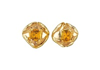 citrine and gold earclips (pair) by cartier