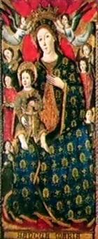 madonna col bambino in gloria by angelillo arcuccio