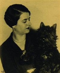 selbstportrait mit hund by marta astfalck-vietz
