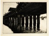 cannon street, railway bridge, london by sybil andrews