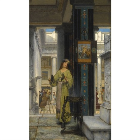 in the temple by sir lawrence alma tadema