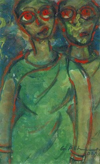 two women by gobardhan ash