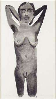 purple pose by marlene dumas