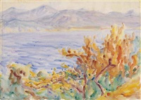 lake orta, italy and untitled (verso) by john peter russell