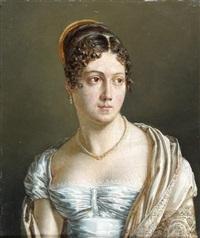 portrait présumé de madame de rémusat by jean baptiste joseph wicar