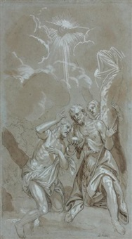 baptême de jésus christ (after véronèse) by benedetto caliari