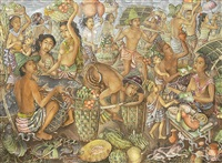 balinese traditional market by anak agung gde raka puja