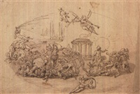 allegorical scenes (2 works) by francesco allegrini