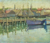 sailboats in the harbor by emma fordyce macrae