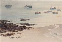 granville la flottille des praires (bateau de pêche à chausey) by pierre brette