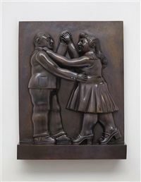 couple dancing by fernando botero