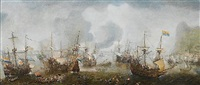 the battle of gibraltar by cornelis claesz van wieringen