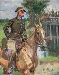 przemarsz kawalerii przez most by woiciech (aldabert) ritter von kossak