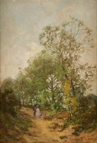 promenade dans le chemin creux by léon g. lebon