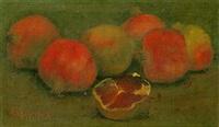 still life with pomegranates by alexandre kaloudis