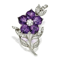 flower brooch by bailey, banks and biddle