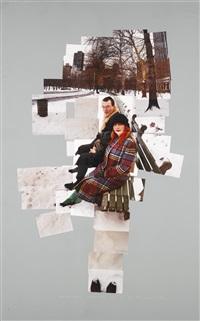anne and davod, central park, n.y. dec 1982 by david hockney