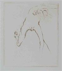 frau rennt weg mit gehirn, pl. 8 (from im liechtensteiner grafos-verlag erschienenen suite schwurhand) by joseph beuys