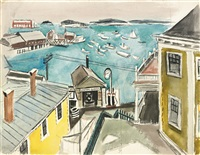 harbor view (central garage) by fairfield porter
