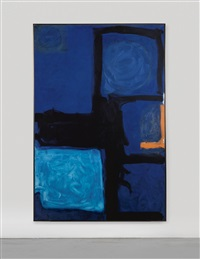 vertical blue and indigo by patrick heron