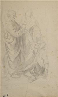 saint pierre guérissant le paralytique, d'après l'oeuvre de raphael by edgar degas