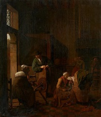 intérieur à la fileuse by jan josef horemans the younger