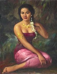portrait of a dancer by raden basoeki abdullah