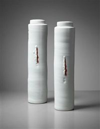 pair of lidded vessels by edmund de waal