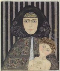 spanische madonna mit kind by mela koehler