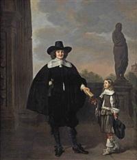 portrait of frederick van velthuysen (d. 1658) and his son dirck (1651-1716), by thomas de keyser