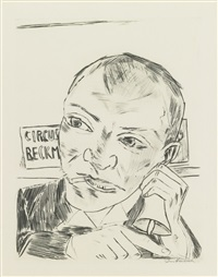 der ausrufer by max beckmann