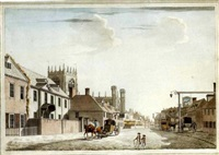 the market place, beverley, east yorkshire by thomas malton the younger