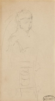 sketch on chair by mary cassatt
