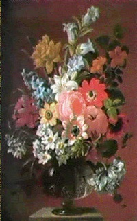 still life of flowers by james (sillet) sillett