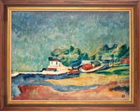 coastal landscape from france by egon adler