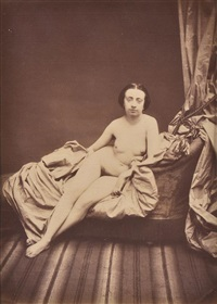 untitled (reclining nude) by joseph auguste belloc