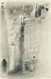 paris façades iv by lyonel feininger