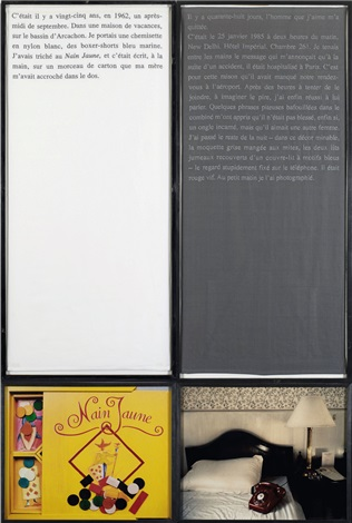 il y a 48 jours (from douleur exquise) (diptych) by sophie calle