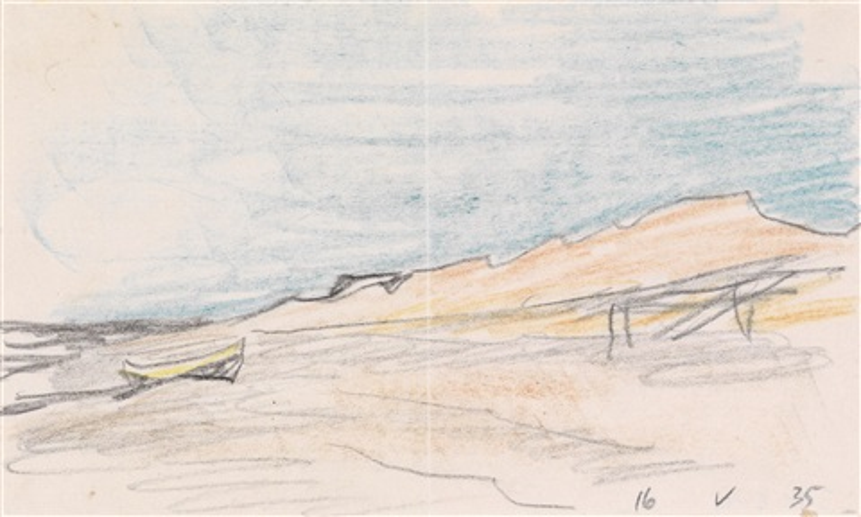 ohne titel boot am strand by lyonel feininger