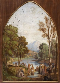 le baptême du christ by théodore claude félix caruelle d' aligny