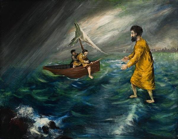 christ walking on the water by arthur merric bloomfield boyd