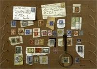 la collection de timbre, trompe l'oeil by alain dequet