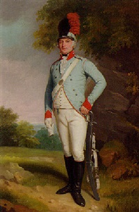 portrait of john, 5th baron farnham, p.c., colonel of the cavan militia by samuel de wilde