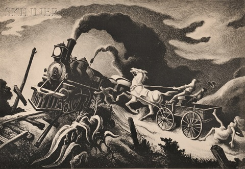 wreck of the ol 97 by thomas hart benton