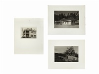architectural studies (3 works) by ansel adams
