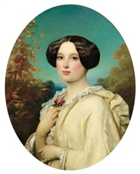 portrait de jeune fille by joseph henri françois van lerius