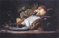 bécasse, canard et fruits by françois frédéric grobon