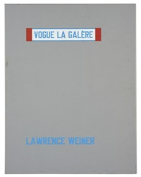 vogue la galere by lawrence weiner