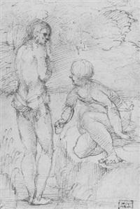 the baptism of christ by romanino (girolamo romani)