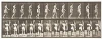 spastic gait (hysterical) walking, plate 543 by eadweard muybridge